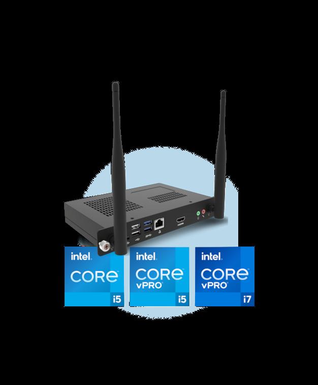 Das Prowise OPS PC-Modul mit Intel vPro bietet die Möglichkeit, alle PC-Module aus der Ferne zu überwachen, zu sichern, zu verwalten und zu unterstützen.  Das macht das IT-Management viel effizienter!