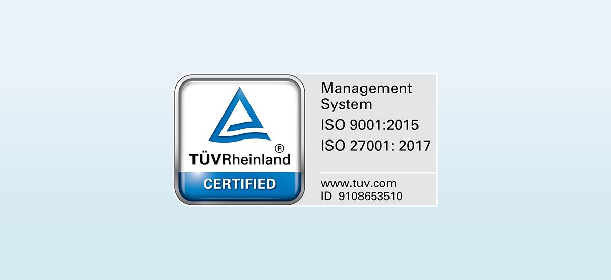 ISO 9001 zertifiziert