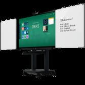 Een klassiek whiteboard aan beide kanten van het touchscreen.