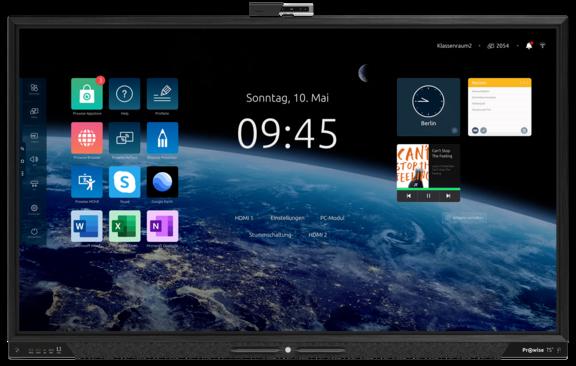 Die interaktive Tafel Prowise Touchscreen Ten in 86 Zoll