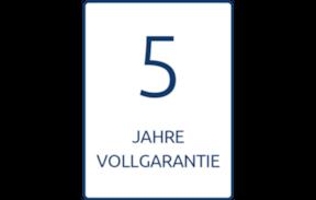 Fünf Jahre Garantie